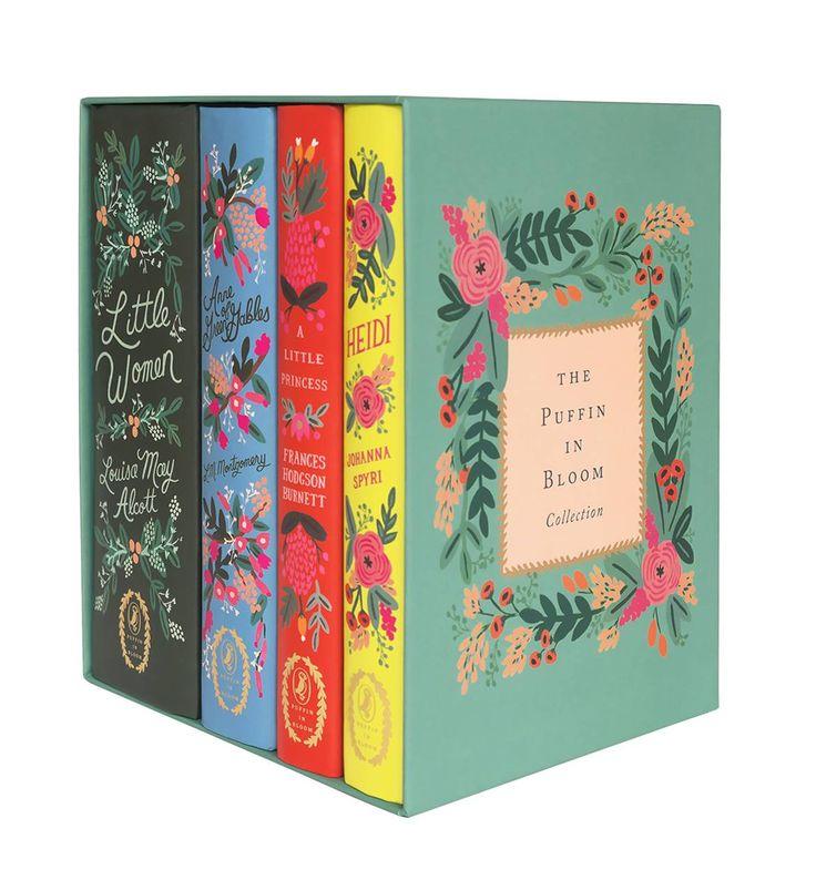 Rifle Paper Co Book Collection - Little Women, Anne of Green Gables, Heidi, & A Little Princess