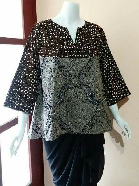 my project: batik tunic made from batik jogja and batik solo