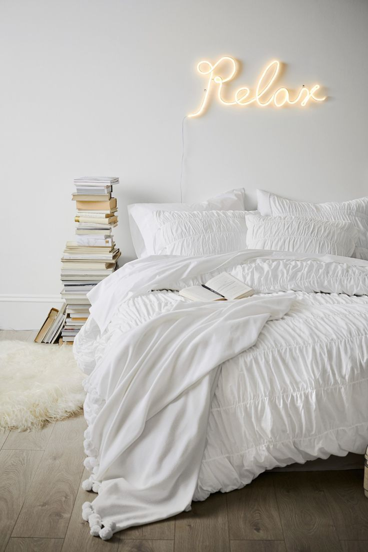 Monochromatic vibes + The Emily & Meritt Relax Neon Light!