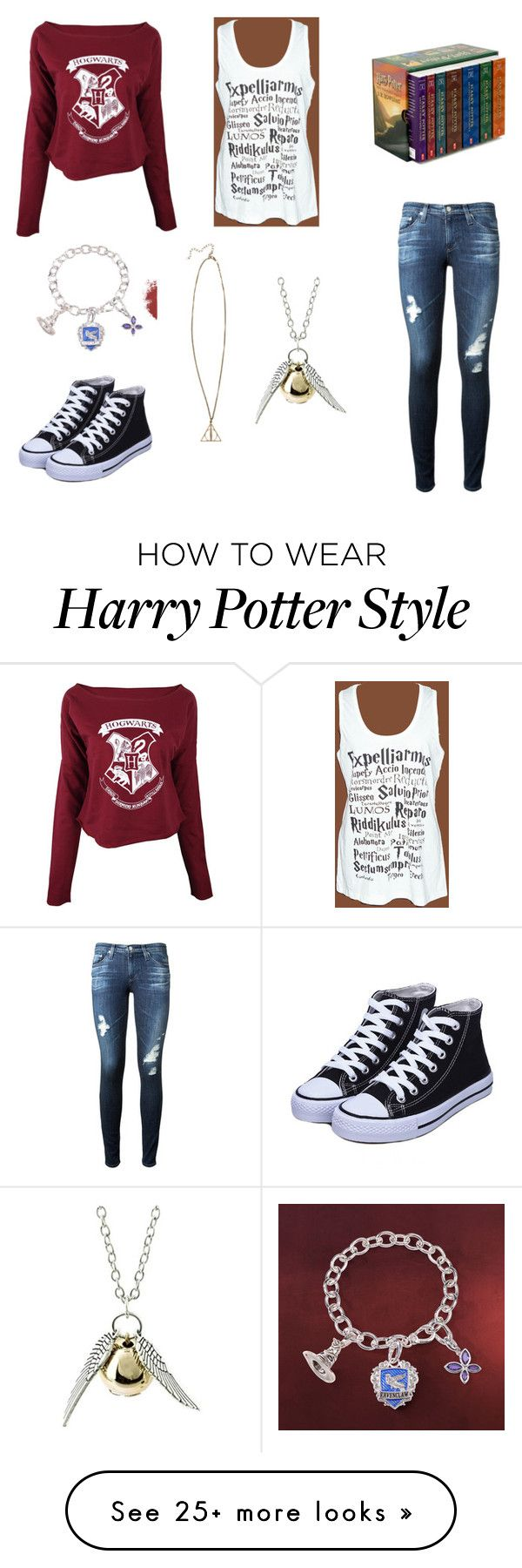 """""""Harry Potter"""" by hannahb0304 on Polyvore featuring AG Adriano Goldschmied, women's clothing, women, female, woman, misses and juniors"""