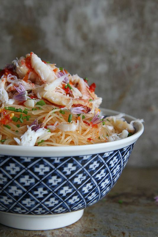 Spicy Crab and Chili Noodles from @heatherchristo