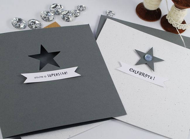 The simplest star cards using Tiny {Celebration} Sentiments.