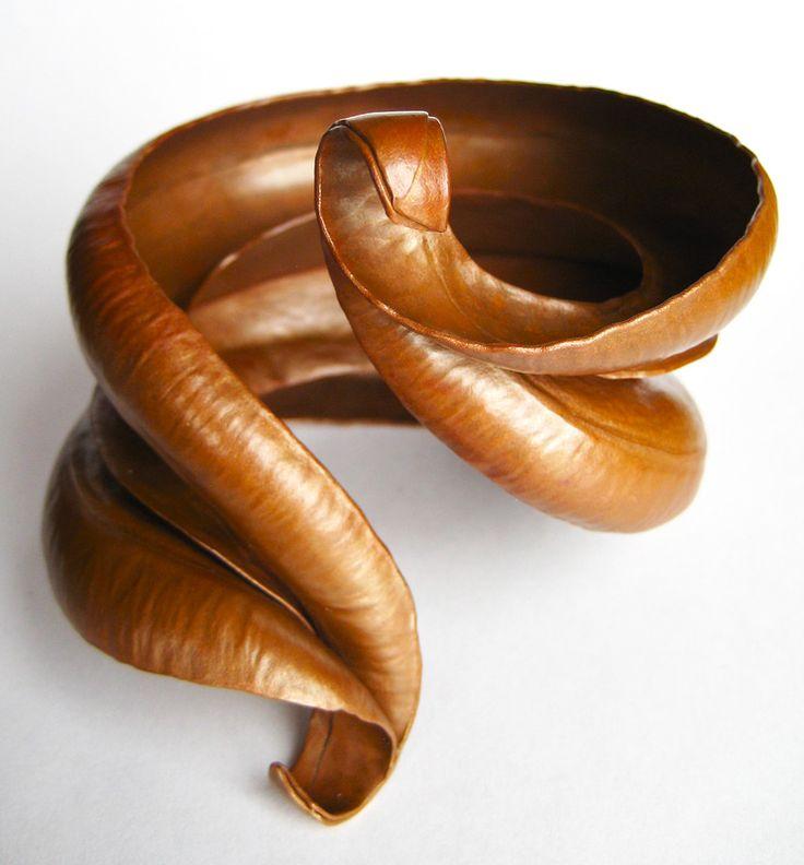 "George Sawyer, Minneapolis, MN, U.S., ""Morgan"" (60 x 20 cm) Copper -- www.foldforming.org"