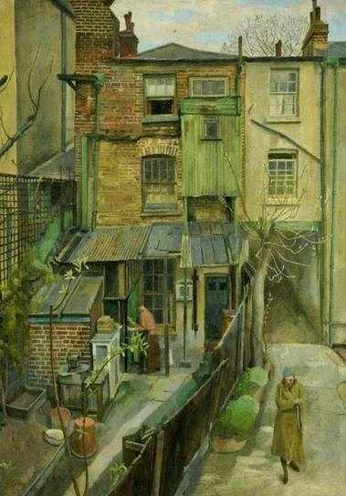 Hampstead Backs, London / Charles Mahoney / oil on canvas