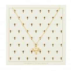 Johnny Loves Rosie Bumble Bee Gift Card Necklace