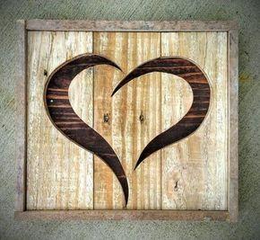 Handmade Reclaimed Rustic Pallet Wood Heart
