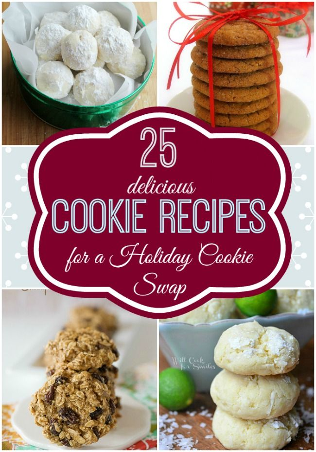 25 Delicious Cookie Recipes for a Holiday Cookie Swap