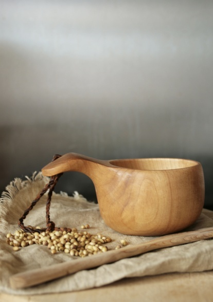 Traditional kuksa - handmade in Lapland. Available at Jilly Bird.