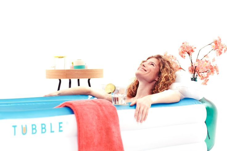 Inflatable #Tubblebath fits in most bathrooms and is ready in 2 minutes! http://tubble.com/