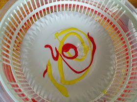 Flame: Creative Children's Ministry: Pentecost Flames Salad Spinner Art and Prayer Ideas