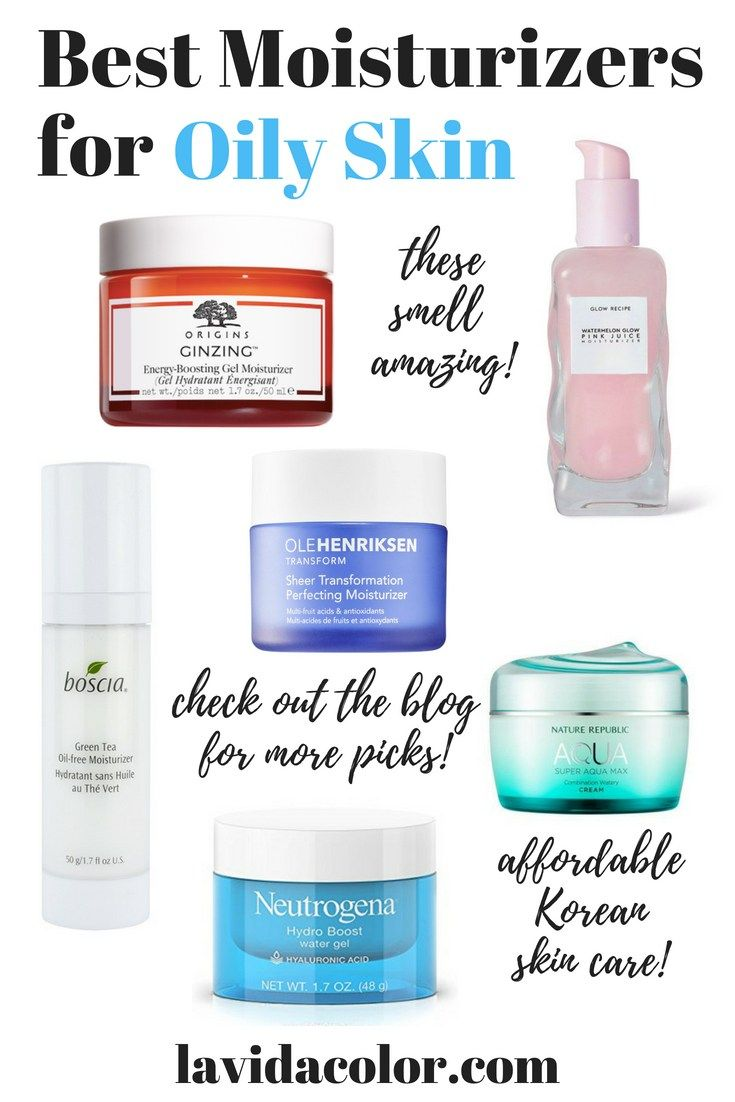 These Moisturizers Are Great For Oily Skin Or Acne Prone Skin This List Includes A Variety Of Moistu Moisturizer For Oily Skin Best Moisturizer Oily Skin Care