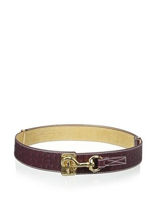 71% OFF Yul Taylor Women's Stable Latch Belt, Berry