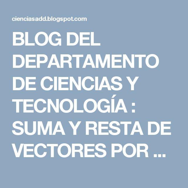BLOG DEL DEPARTAMENTO DE CIENCIAS Y TECNOLOGÍA : SUMA Y RESTA DE VECTORES POR EL MÉTODO GRÁFICO