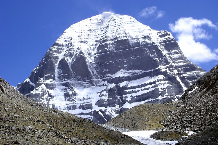 Holy Mount Kailash in Tibet. Mount Kailash is one of the best pilgrimage tour in Tibet for all the Buddhist and Hindus travelers.