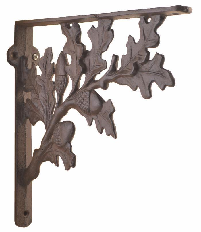 cast iron shelf brackets wall shelf brackets acorn pattern