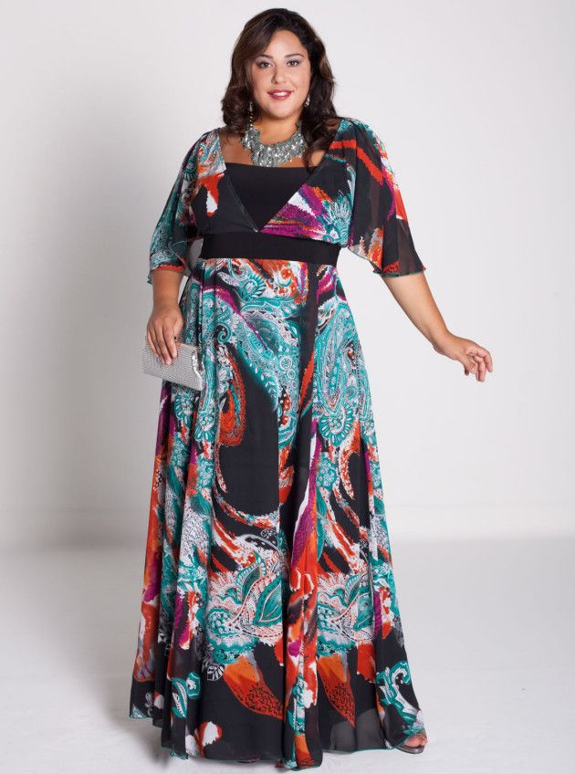 New Plus Size Spring Maxi Dresses Collection 2014 For Women (