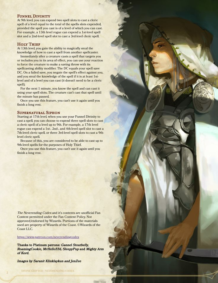 Divine Grifter a new 5e homebrew Roguish Archetype