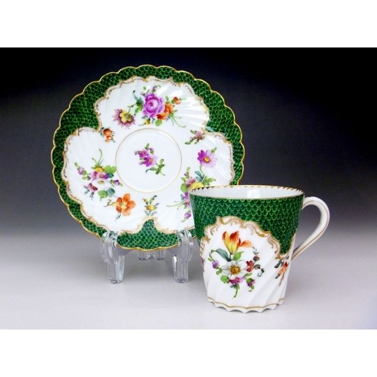 Dresden Porcelain (Germany) — Tea Cup and Saucer, late 19th century  (540×540):