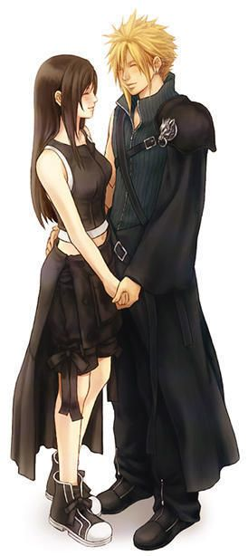 Cloud and Tifa  Final Fantasy 7