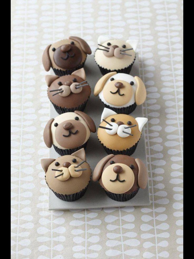 Muffins med katte og hunde