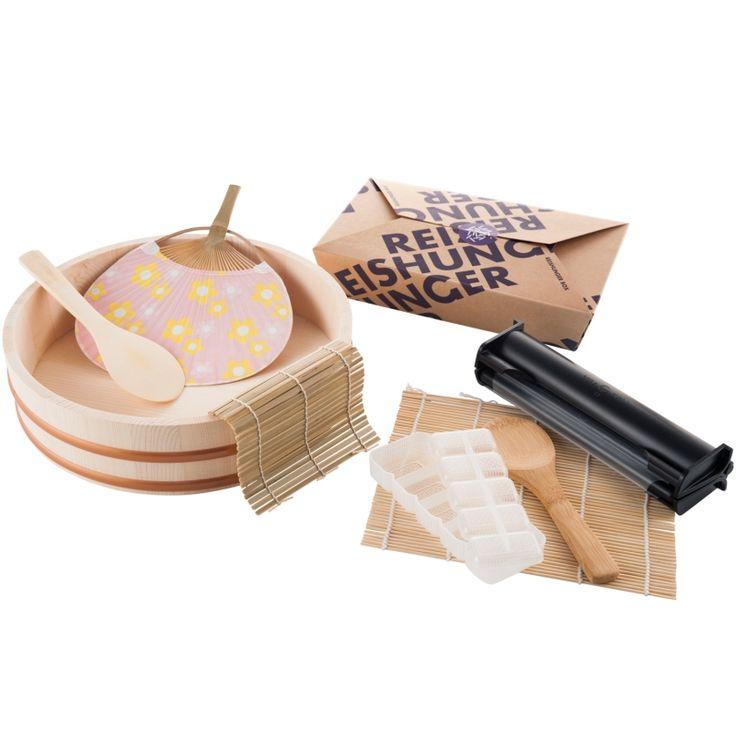 REISHUNGER Sushi Equipment Box XXL - die perfekte Ausrüstung für das Selbermachen von Sushi #reishunger #sushi #box #gift #hangiri #maki #nigiri