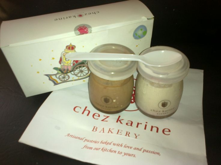 chez karine pudding -- in a cutesy bottle