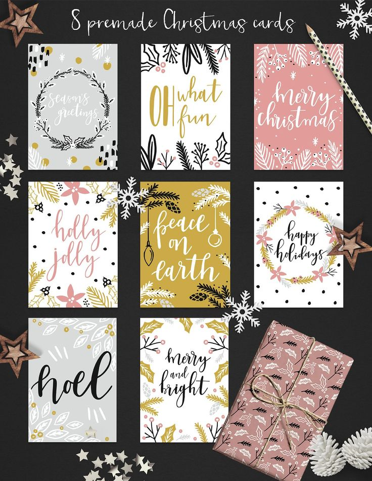 Christmas overlays: Quotes & Clipart by lokko studio on @creativemarket