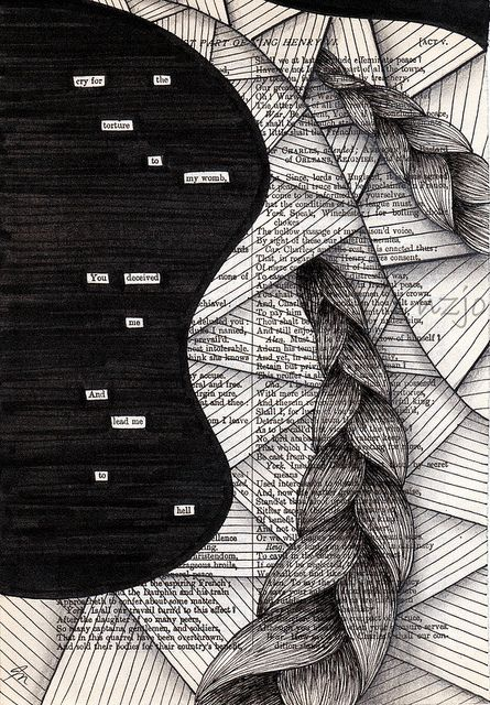 newspaper blackout meets zentangle zentangles pinterest photostream by and poem. Black Bedroom Furniture Sets. Home Design Ideas