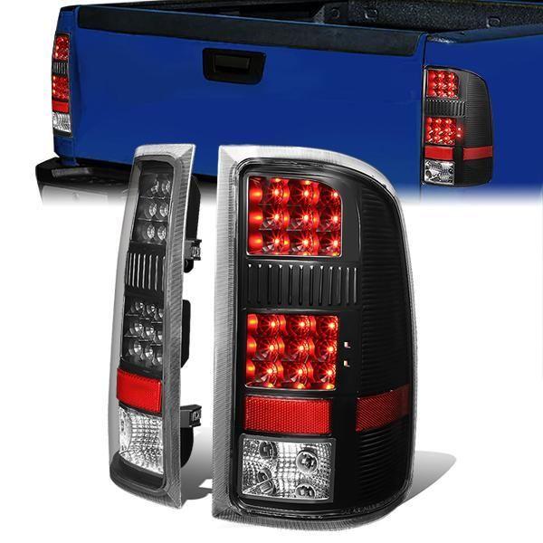 07 14 Gmc Sierra 1500 2500hd 3500hd Led Rear Brake Tail Lights Black Gmc Sierra 1500 Gmc Sierra Tail Light