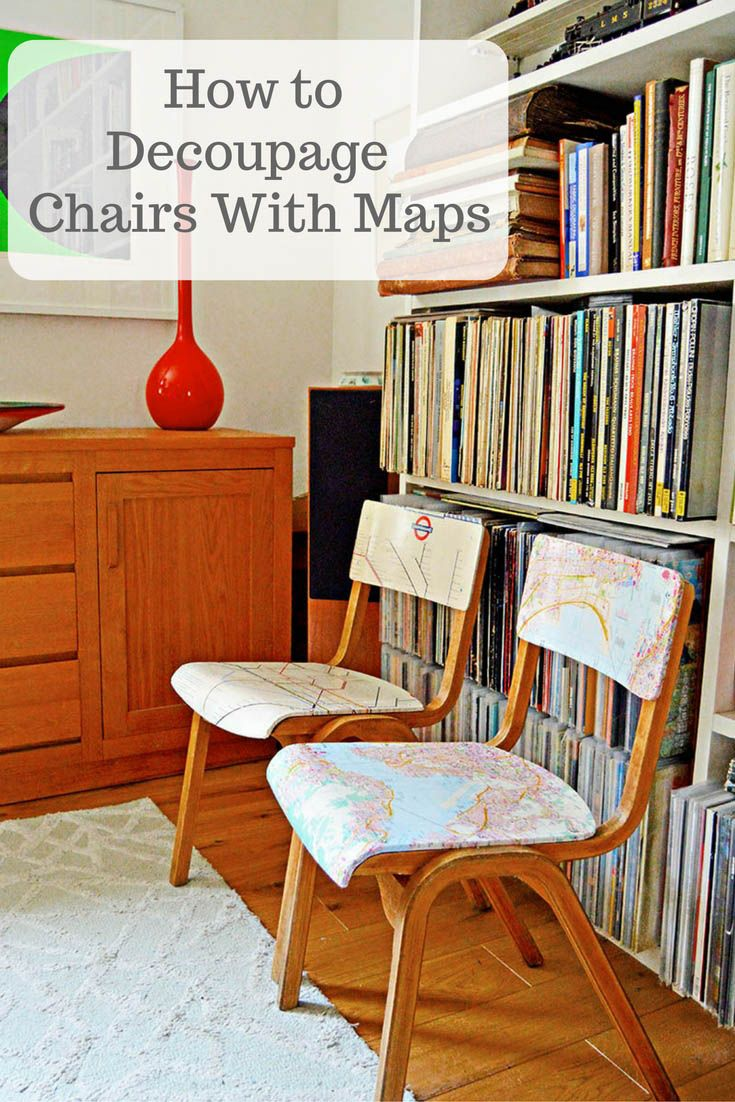 How to make a simple wooden chair - How To Make Personalised Map Chairs