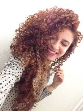 natural curly hair with indian henna