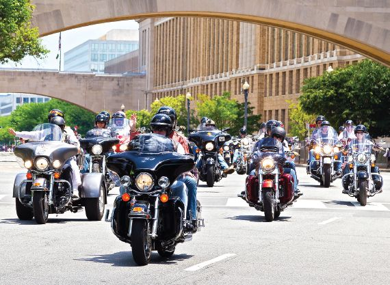 The rumble of motorcycles takes on a somber meaning around the Memorial Day holiday (May 29, 2016) as thousands of bikers assemble in the Pentagon parking lot to ride into the District and honor military men and women who have fallen, been injured and who have been taken as prisoners of war.