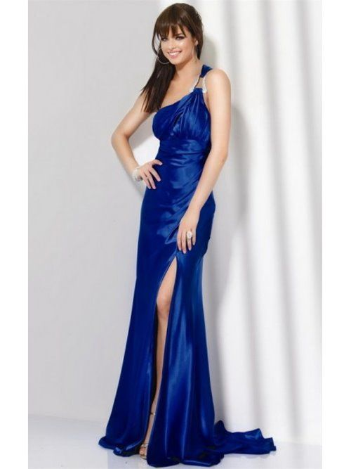 Beautiful Electric Blue Prom Ball Gown Dresses