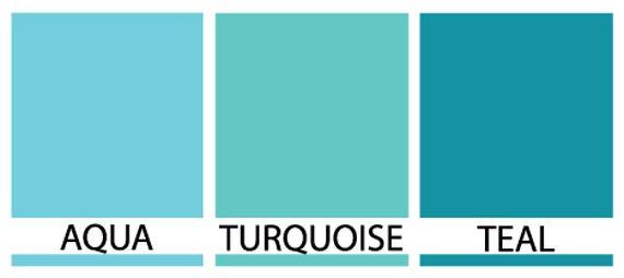 Turquoise vs Teal Vs. Aqua | Aqua, turquoise or teal ...