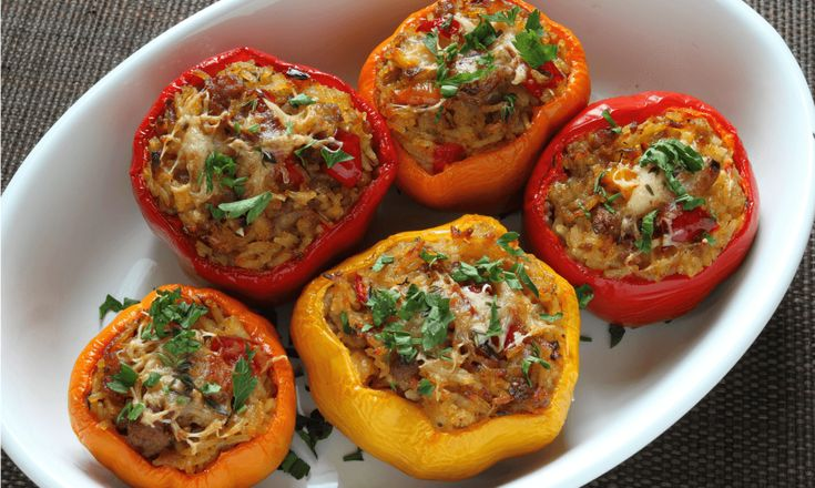 Ground Beef-Stuffed Mexican Bell Peppers
