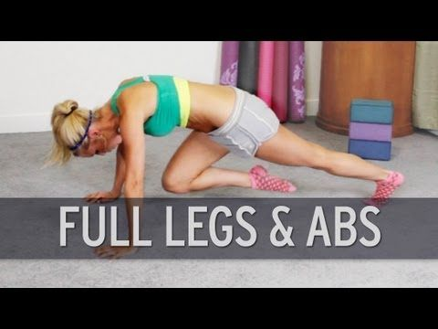 Full Legs And Abs Workout - YouTube