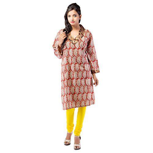 Damyantii Plus Size Cotton Rust Kurti For Women 50 Damyantii http://www.amazon.in/dp/B00TU01Z4Q/ref=cm_sw_r_pi_dp_GFY-ub02JDY9T