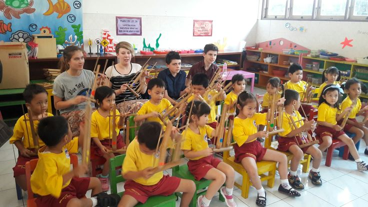 Angklung, the traditional music of Indonesia