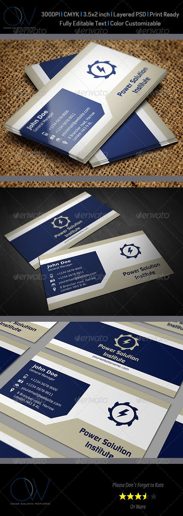120 best business card images on pinterest business cards corporate business card template vol39 reheart Images