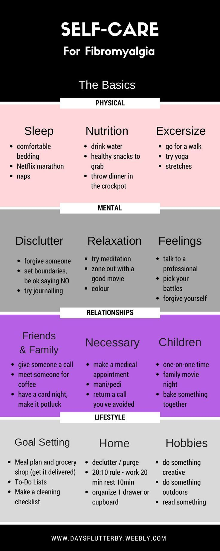 Colour therapy for fibromyalgia - Arthritis Remedies Hands Natural Cures Days Flutterby Self Care For Fibromyalgia The Basics Infograph Arthritis Remedies Hands Natural Cures