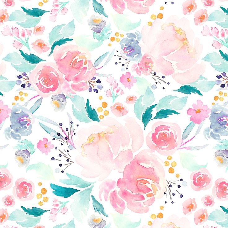 Baby Girl Nursery Fabric - Indy Bloom Design Mermaid Lagoon B By Indybloomdesign - Watercolor Cotton Fabric By The Yard With Spoonflower by Spoonflower on Etsy https://www.etsy.com/listing/525331129/baby-girl-nursery-fabric-indy-bloom