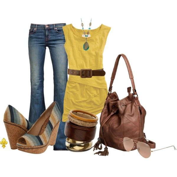 """The Phoenix"" by hatsgaloore on Polyvore: Fall Clothing, Outfit, Autumn Style, Mustard Yellow Tops, Color Combinations, Fashion 2014, Polyvore, Phoenix, Cute Clothes"