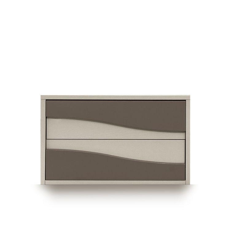 Italian modern elegant design nightstand Wave I, L 63 - D 42.5 - H 39. at My Italian Living Ltd