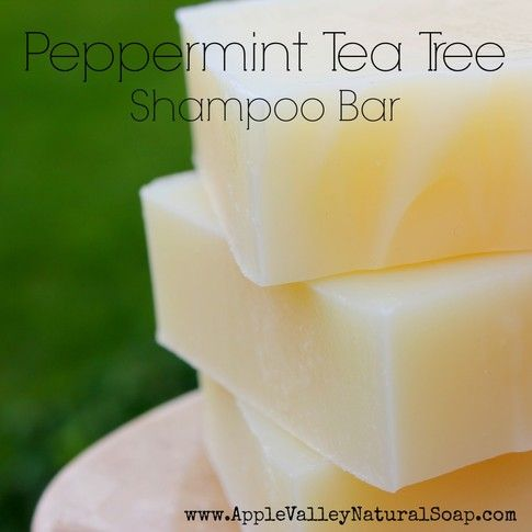 Peppermint Tea Tree Shampoo Bar  i hope to be making these soon! Cant wait to try it!!!