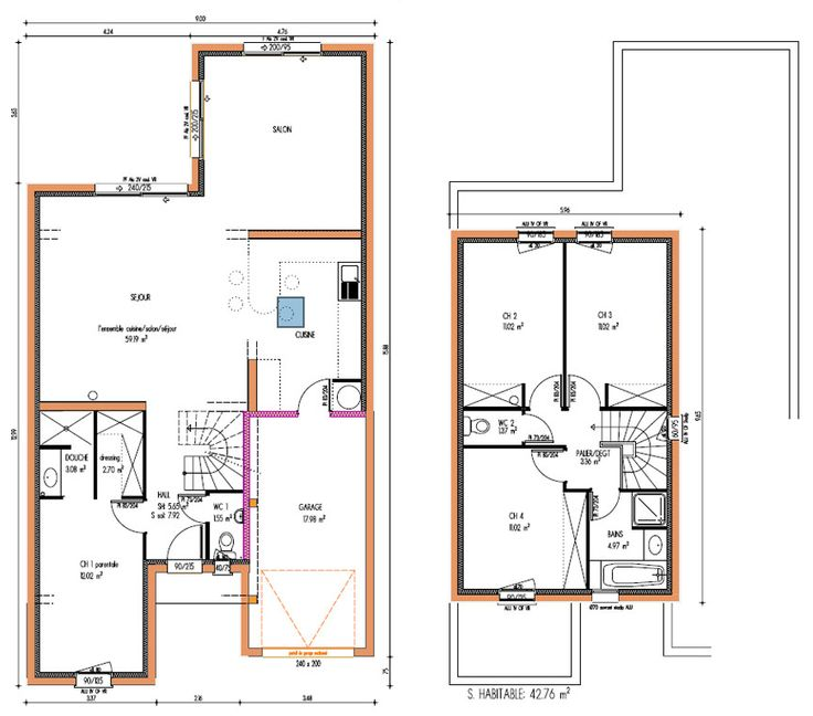 39 best maison images on Pinterest Cottage, Floor plans and House - logiciel pour plan de maison