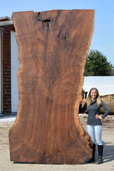 2789s4  natural edge wood slab table top - live edge claro walnut custom tabletop  www.berkshireproducts.com