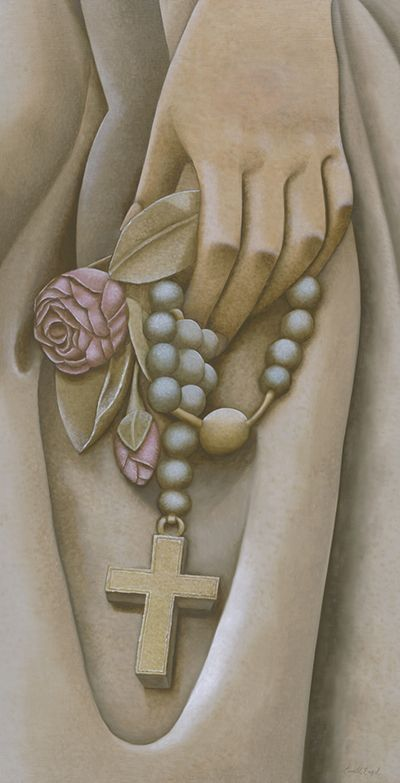 The+Rosary+-+Let+Our+Faith+Be+Your+Strength+|+A+painting+by+Camille+Engel,+contemporary+realist