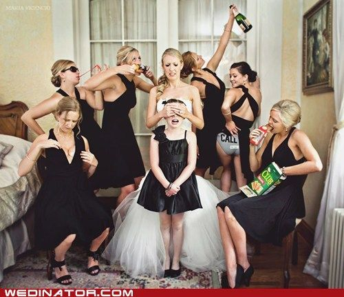 It's Wedding Party Time | WHEN YOUR SORORITY SISTERS ARE YOUR BRIDESMAIDS. #KappaKappaHotMess | I just laughed so hard--love the hashtag