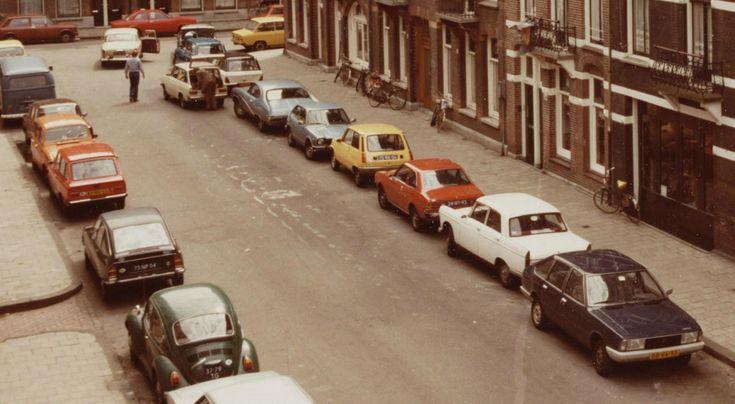 Kever & GS & 44 Stationcar & Buick Skylark & R5 & Lancer & 404 & 1308 | Alberdingk Thijmstraat 1978 beeldbank.amsterdam.nl