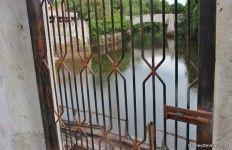 metal door to  beach at Harambe, Africa, animal kingdom, walt disney world